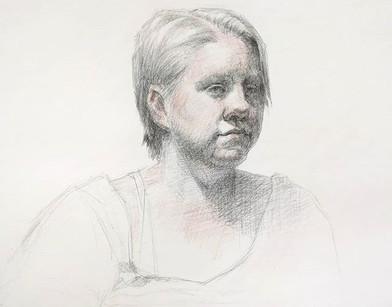 3 hr trois-crayon portrait
