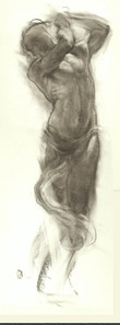 Charcoal long pose by Ron Brown