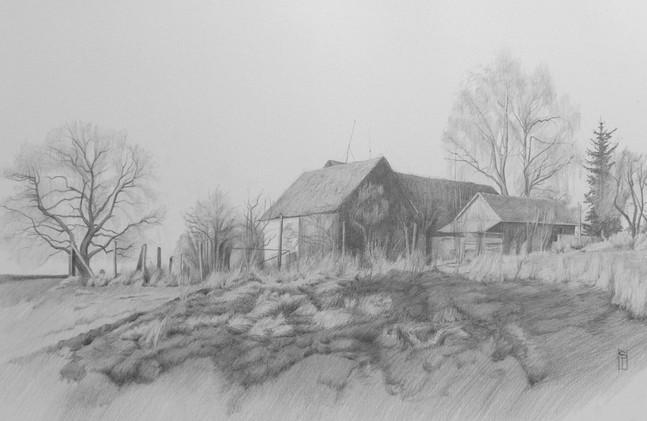Rendered Landscape Drawing