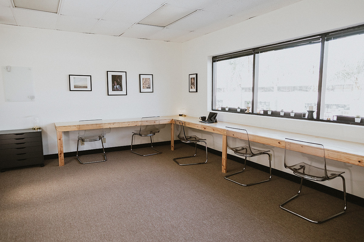 Upstairs work stations