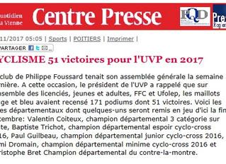 171 podiums dont 51 victoires pour l' UVPOITIERS