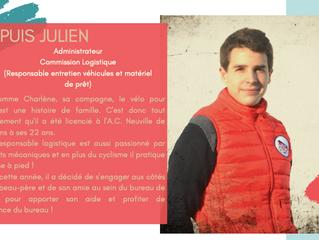 Et voilà... le dernier portrait c'est celui de Julien DUPUIS, notre responsable logistique et en