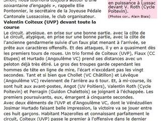 Valentin Coiteux (UVP) devant toute la course