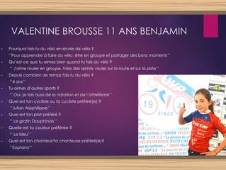 On enchaîne avec Valentine BROUSSE...