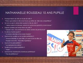 Aujourd'hui c'est au tour de Nathanaëlle Rousseau...