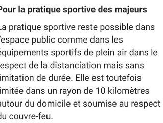 Voici les nouvelles mesures pour le sport à partir d'aujourd'hui sur l'ensemble du territoire...