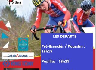 ATTENTION ! LEGERES MODIFS DES HORAIRES DE DEPART (CYCLO-CROSS DE LA VILLE DE POITIERS