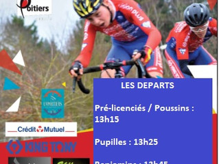 ATTENTION ! LEGERES MODIFS DES HORAIRES DE DEPART (CYCLO-CROSS DE LA VILLE DE POITIERS