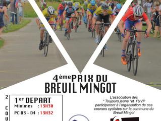 La saison de nos organisations va débuter au BREUIL MINGOT dès le dimanche 9 juin prochain.