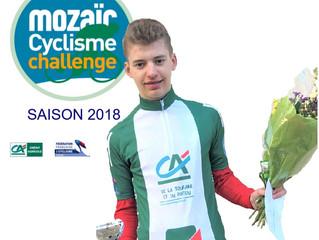 Classement CADET du MOZAIC CYCLISME CHALLENGE