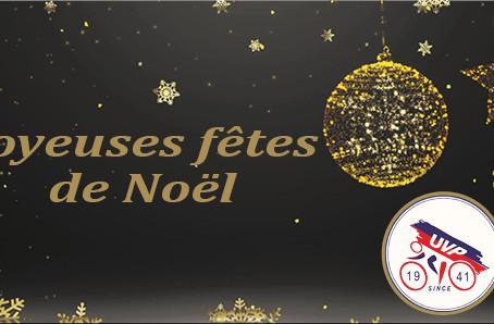L' Union Vélocipédique Poitevine vous souhaite du fond du cœur, d'excellentes fêtes de Noël