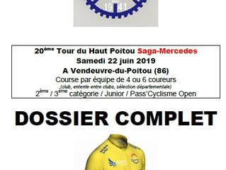 20ème édition du Tour cycliste du Haut Poitou SAGA MERCEDES - Samedi 22/06/2019