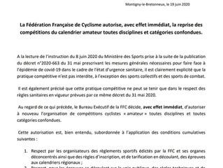 COMMUNIQUE FFC - 18/06/2020