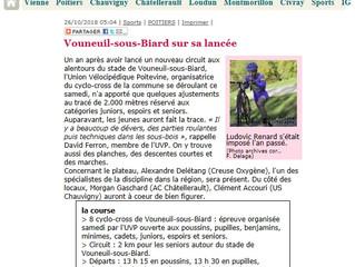 LA PRESSE - CYCLO CROSS DE VOUNEUIL/BIARD