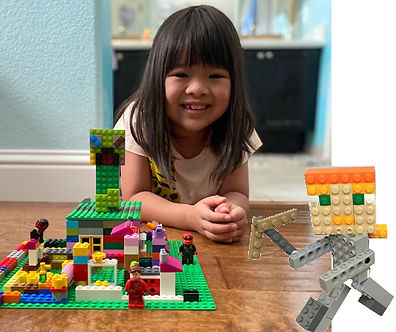 girl in TechKnowHow LEGO Minecraft camp