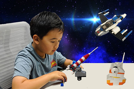 Kid taking LEGO Space Engineering camp
