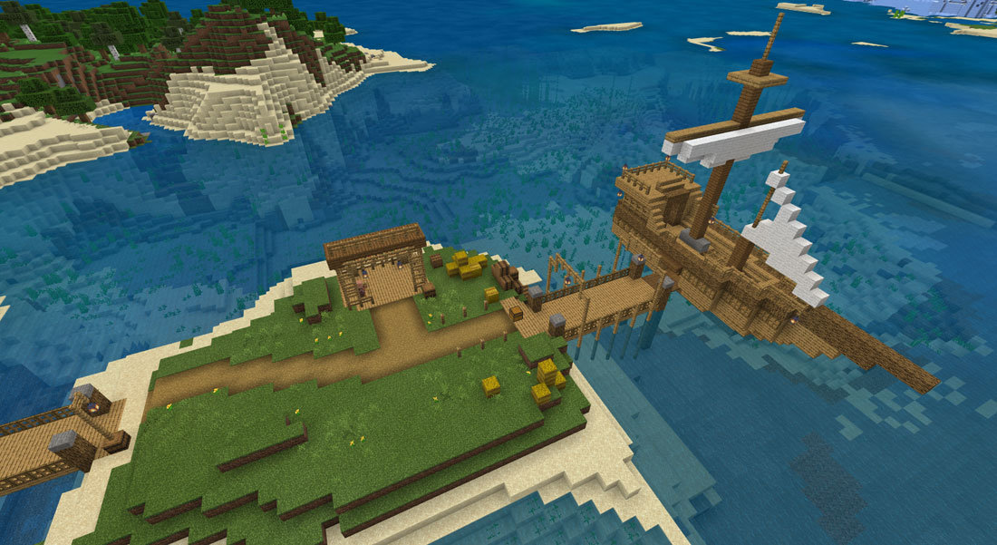 Minecraft ship from TechKnowHow camp