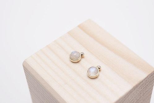 Ninfa - Labradorite bianca e diamanti