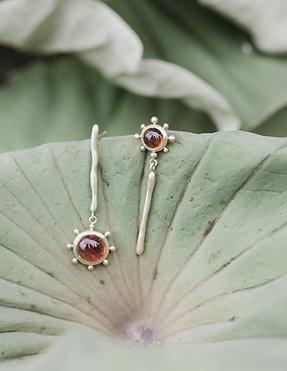 Orecchini Bloom - Rosa Corallo
