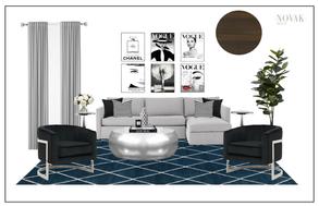 modern glam living room in toronto house