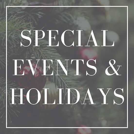Special Events or Holiday Decoration