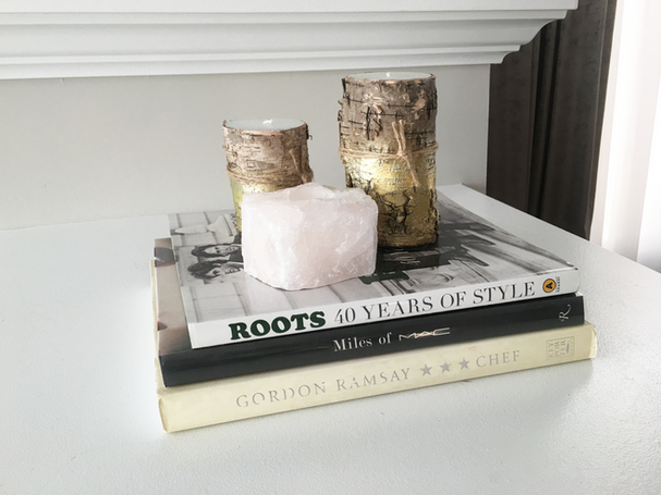 How to style a 3 sided fireplace mantel