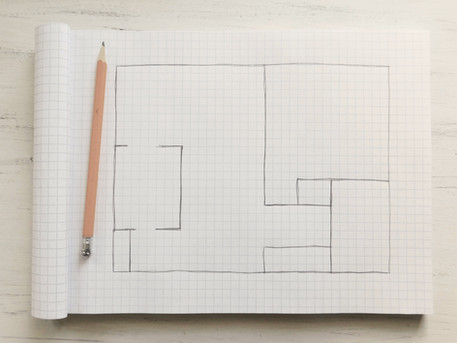 rough hand drawn floor plan