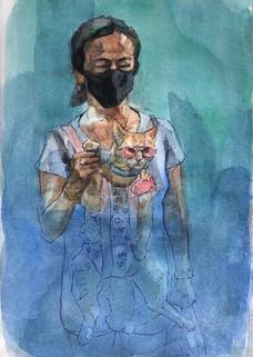 Sean McGuill_Catfish_Watercolour_15x23cm