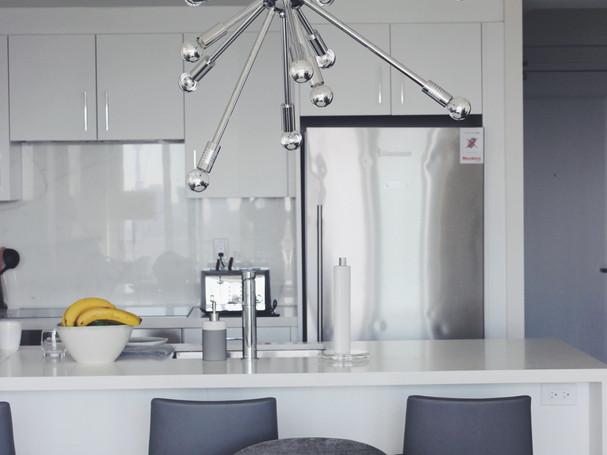 modern kitchen in condo