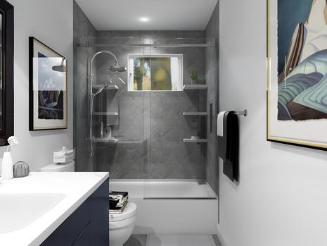 Shower tile in new bathroom remodel toronto