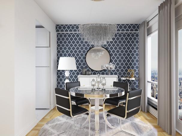 glam dining room decor