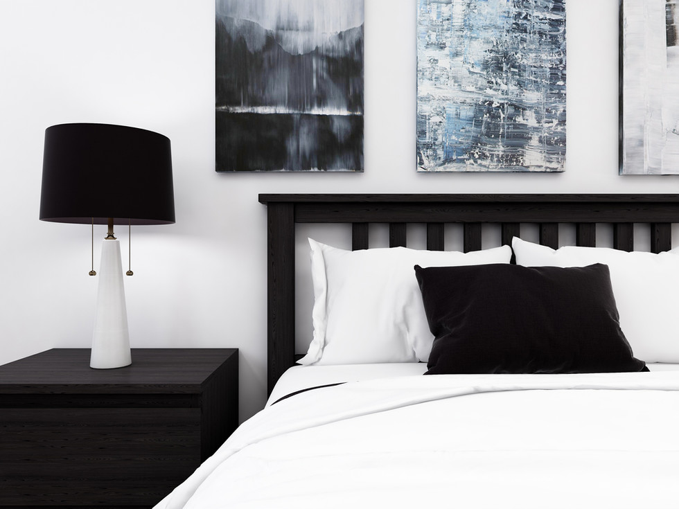 Luxe and bold bedroom in Richmond Hill home