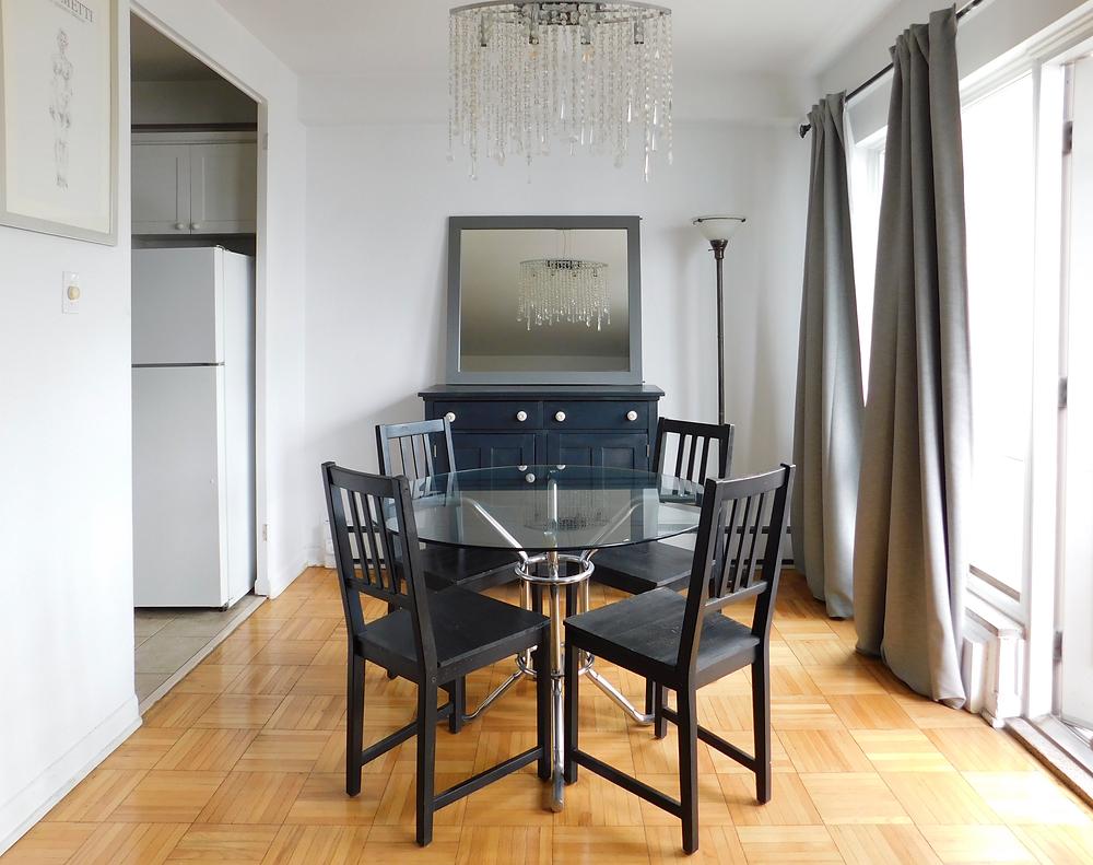 boring dining room in toronto condo