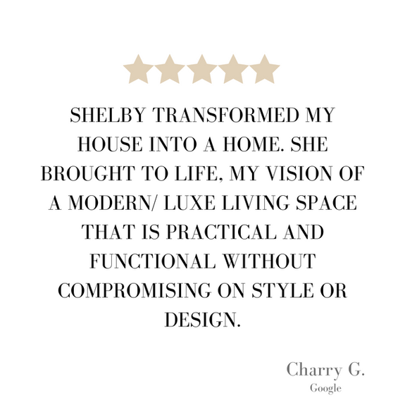 Interior design client testimonial