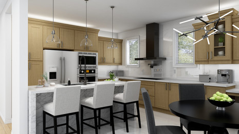 Kitchen renovation with exisiting cabinets