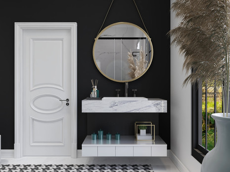 Master bathroom with modern finishes