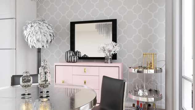 glam dining room decor