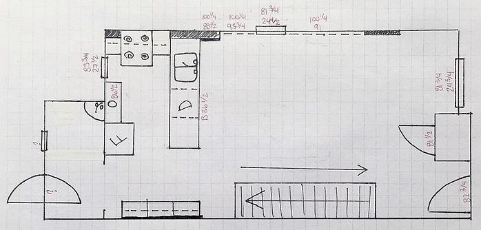 elevations, electrical floor plan, partials, doors, windows, fridge, oven, hob, stove