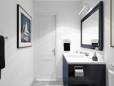 modern vanity in toronto home