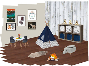 childrens and kids playroom native and dinosaur theme concept board