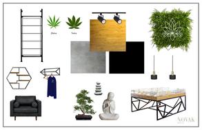 Cannabis dispensary Mood board and concept board
