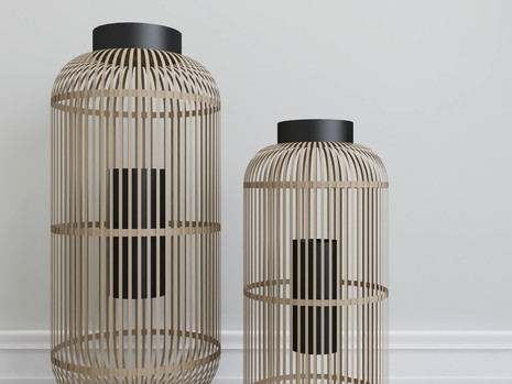 two candle lanterns home decor