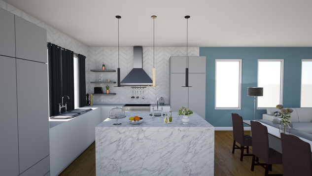 modern luxe kitchen with marble