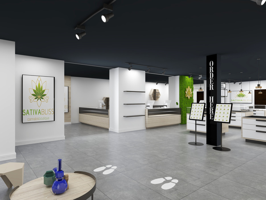 big cannabis dispensary designed retail space