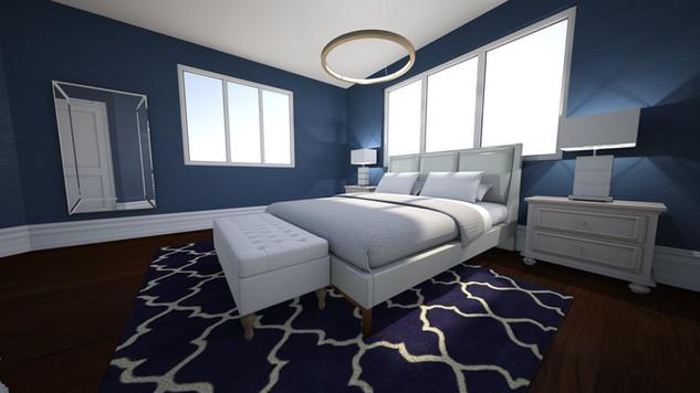gold ceiling light blue rug