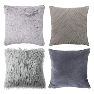 Different shades of grey throw pillows with undertones
