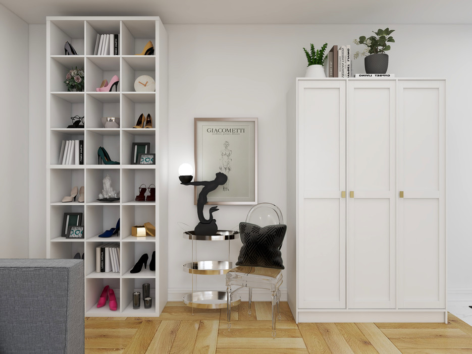 IKEA wardrobe in toronto condo plus cube shelf
