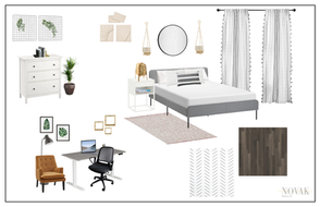 Spare bedroom, office blend in boho style