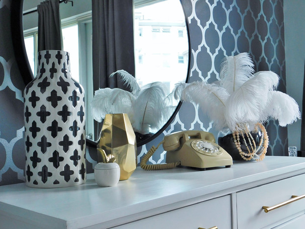 How to style a console table in a dining room
