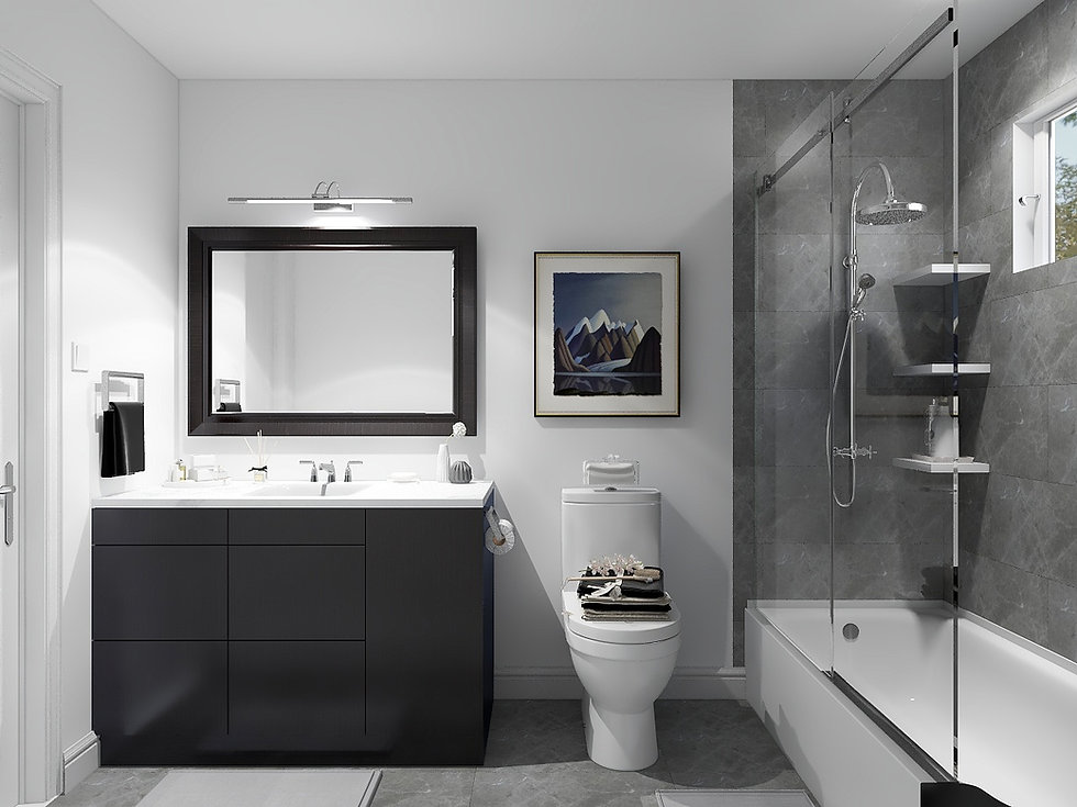 Bathroom update in Brampton detached Home